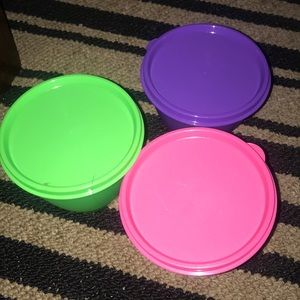 Storage containers Tupperware 💚💖💜